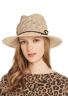 AQUA Macram� Detail Hat - 100% Exclusive