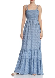AQUA Medallion Smocked Maxi Dress - 100% Exclusive