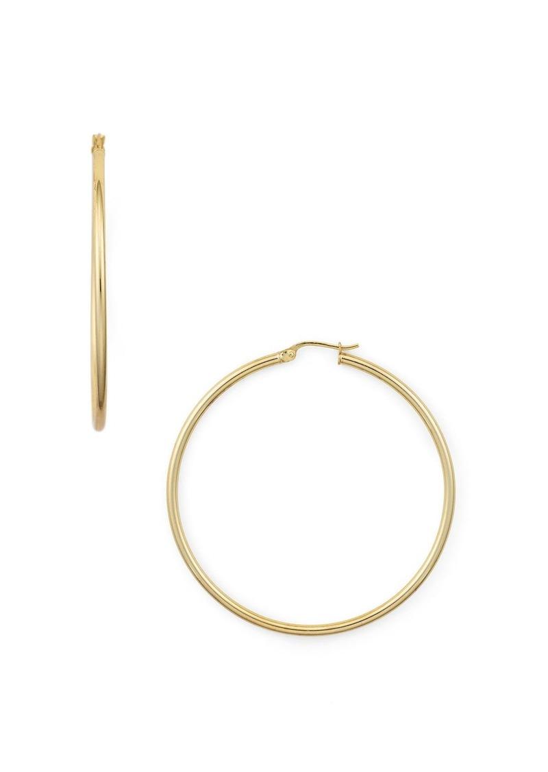 AQUA Medium Hoop Earrings in 18K Gold-Plated Sterling Silver or Sterling Silver - 100% Exclusive