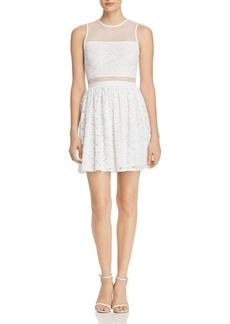 AQUA Mesh-Inset Lace Dress - 100% Exclusive