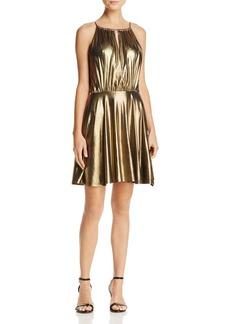 AQUA Metallic Fit-and-Flare Dress - 100% Exclusive