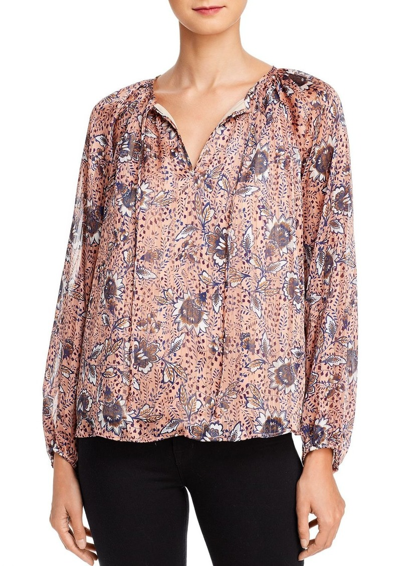 AQUA Metallic Floral Paisley Top - 100% Exclusive