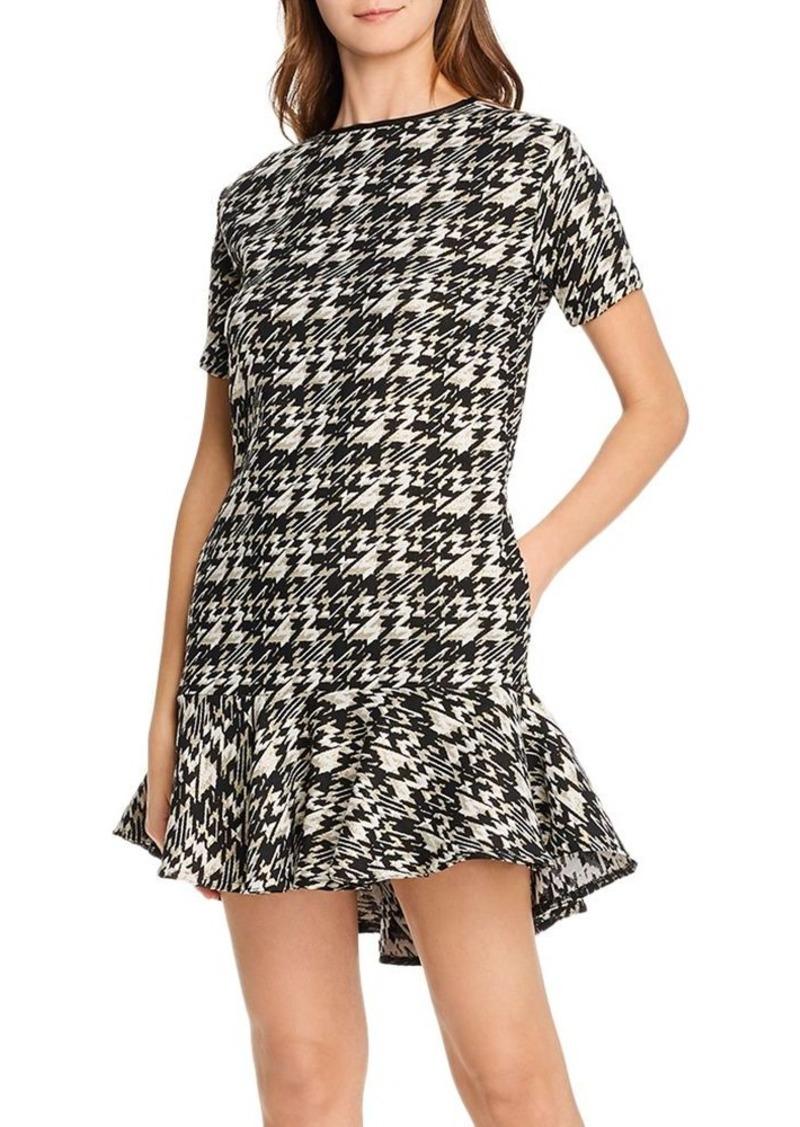 AQUA Metallic Houndstooth Dress - 100% Exclusive