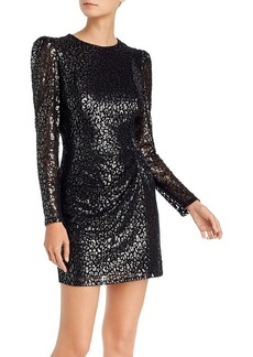AQUA Metallic Leopard-Pattern Dress - 100% Exclusive
