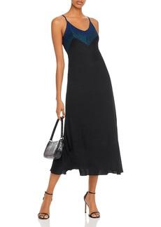 AQUA Metallic Rib-Knit Midi Dress - 100% Exclusive