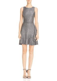 AQUA Metallic Ruffle-Hem Dress - 100% Exclusive