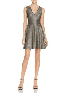 Aqua Metallic Scalloped Dress - 100% Exclusive