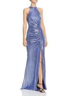 AQUA Metallic Sequin Gown - 100% Exclusive