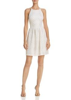 AQUA Metallic Textured Dress - 100% Exclusive