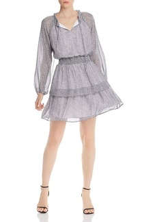 AQUA Micro Leopard-Print Dress - 100% Exclusive