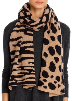 AQUA Mixed Animal Print Cashmere Scarf - 100% Exclusive