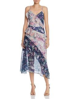 AQUA Mixed Floral Midi Dress - 100% Exclusive
