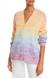 AQUA Mixed Marl Stripe Cardigan Sweater - 100% Exclusive
