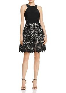 AQUA Mixed-Media Dress - 100% Exclusive