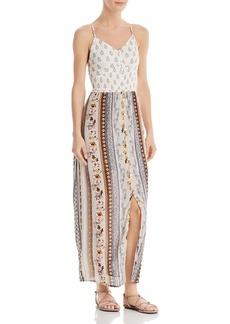 AQUA Mixed-Media Paisley & Floral Maxi Dress - 100% Exclusive