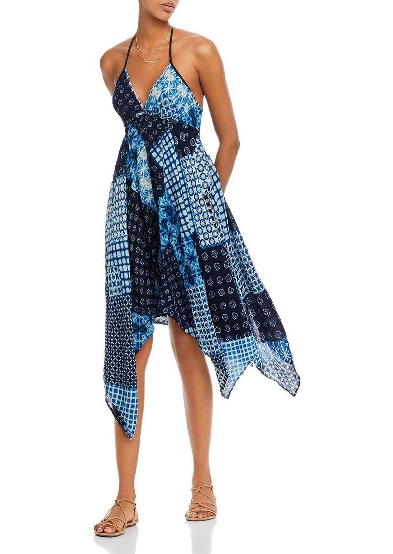 AQUA Mixed-Print Halter Dress - 100% Exclusive
