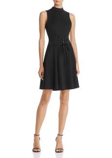 AQUA Mock Neck Corset Dress - 100% Exclusive
