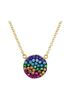 "AQUA Multi Color Disc Pendant Necklace in Gold Tone-Plated Sterling Silver, 15"" - 100% Exclusive"