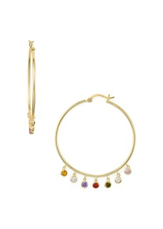 AQUA Multicolor Drop Hoop Earrings in Gold Tone-Plated Sterling Silver - 100% Exclusive