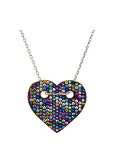 "AQUA Sterling Silver Multi Color Heart Pendant Necklace, 14"" - 100% Exclusive"