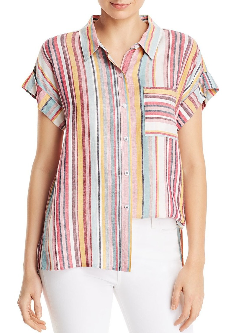 AQUA Multi-Stripe Button Down Shirt - 100% Exclusive