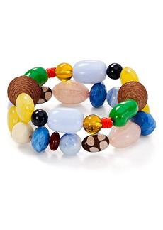 AQUA Multicolor Beaded Stretch Bracelets - 100% Exclusive