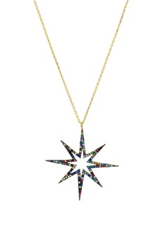 "AQUA Multicolor Star Pendant Necklace in Sterling Silver, 16"" - 100% Exclusive"