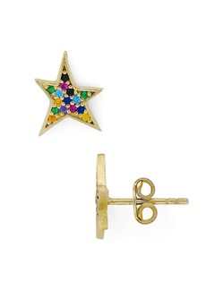 AQUA Multicolor Star Stud Earrings in 18K Gold-Plated Sterling Silver - 100% Exclusive