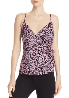 AQUA Neon Leopard Wrap Top - 100% Exclusive