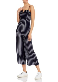 AQUA Notched Striped Jumpsuit - 100% Exclusive