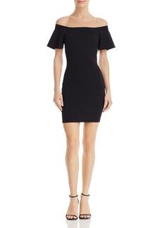 AQUA Off-the-Shoulder Bodycon Dress - 100% Exclusive