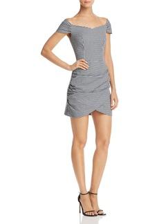 AQUA Off-the-Shoulder Gingham Dress - 100% Exclusive