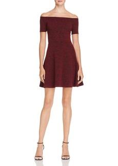 AQUA Off-the-Shoulder Knit Dress - 100% Exclusive