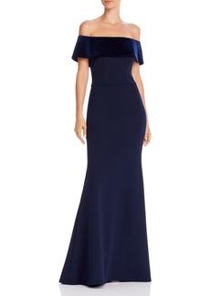 AQUA Off-the-Shoulder Mermaid Gown - 100% Exclusive