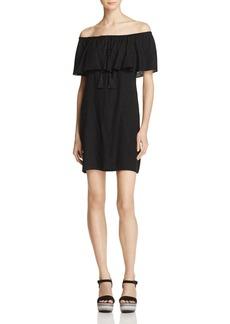 AQUA Off-the-Shoulder Ruffle Dress - 100% Exclusive