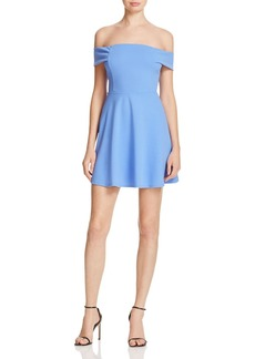 AQUA Off-The-Shoulder Scuba Dress - 100% Exclusive