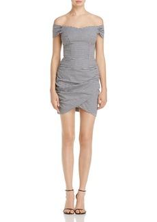 AQUA Off-the-Shoulder Wrap-Skirt Dress - 100% Exclusive