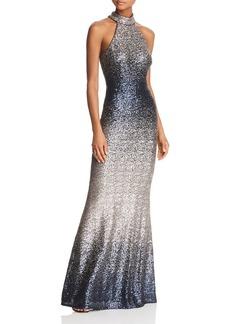 AQUA Ombr� Sequined Gown - 100% Exclusive