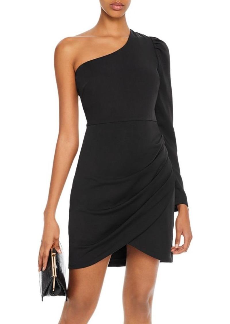 AQUA One-Shoulder Puff-Sleeve Dress - 100% Exclusive