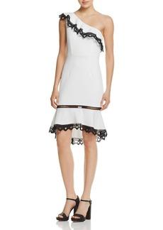 AQUA One Shoulder Ruffle Dress - 100% Exclusive