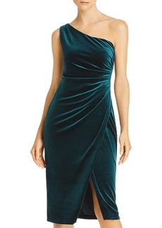 AQUA One-Shoulder Velvet Dress - 100% Exclusive