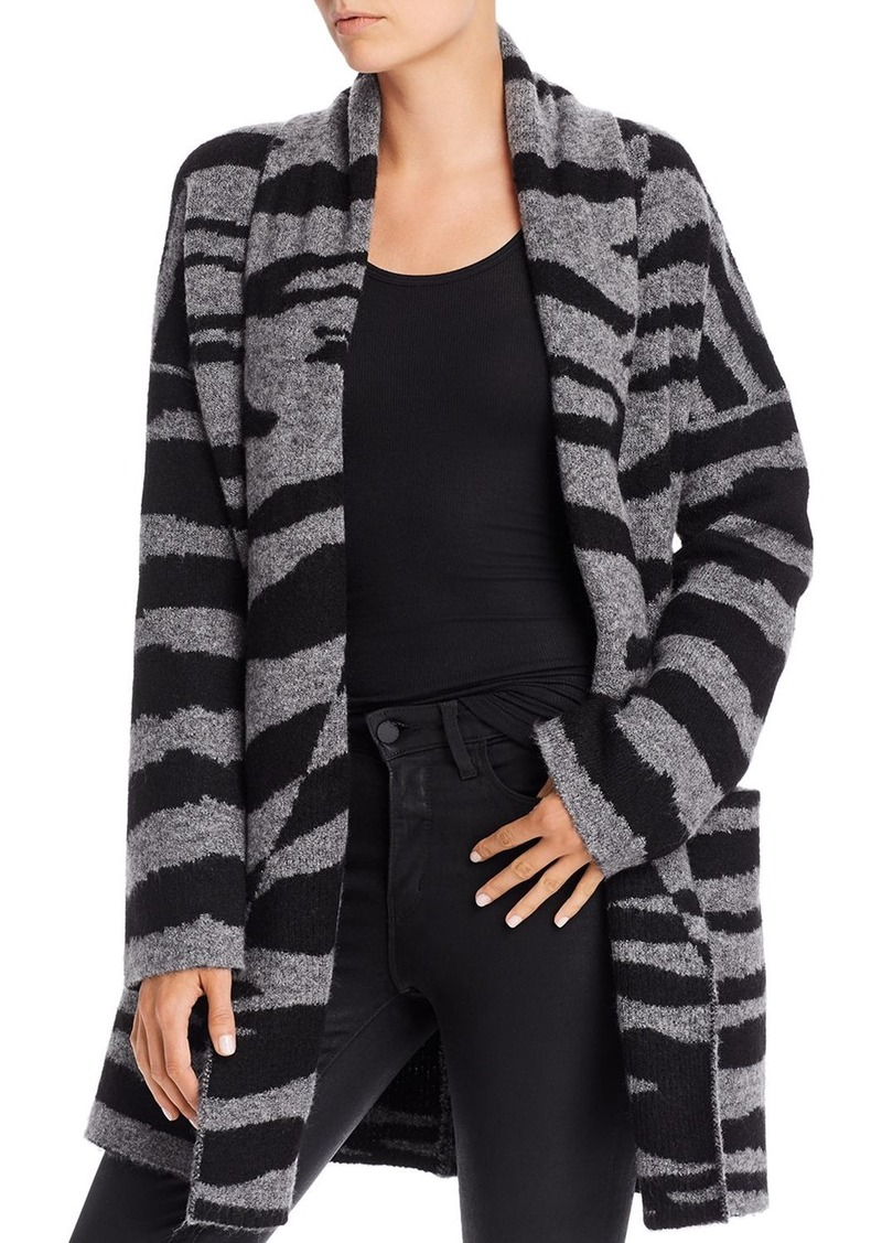 AQUA Open-Front Zebra-Print Cardigan - 100% Exclusive