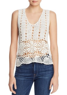 AQUA Open-Knit Crochet Tank - 100% Exclusive