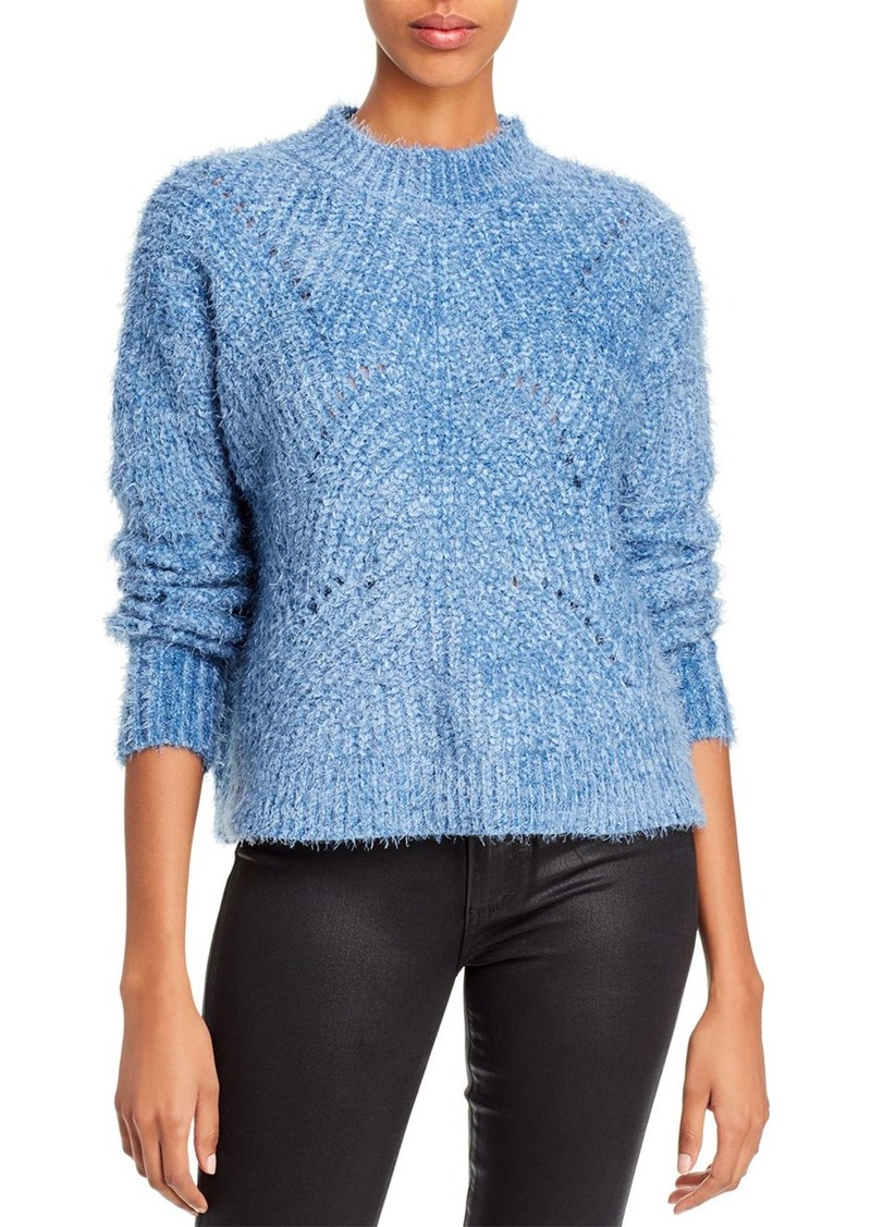 AQUA Open-Stitch Eyelash-Knit Sweater - 100% Exclusive
