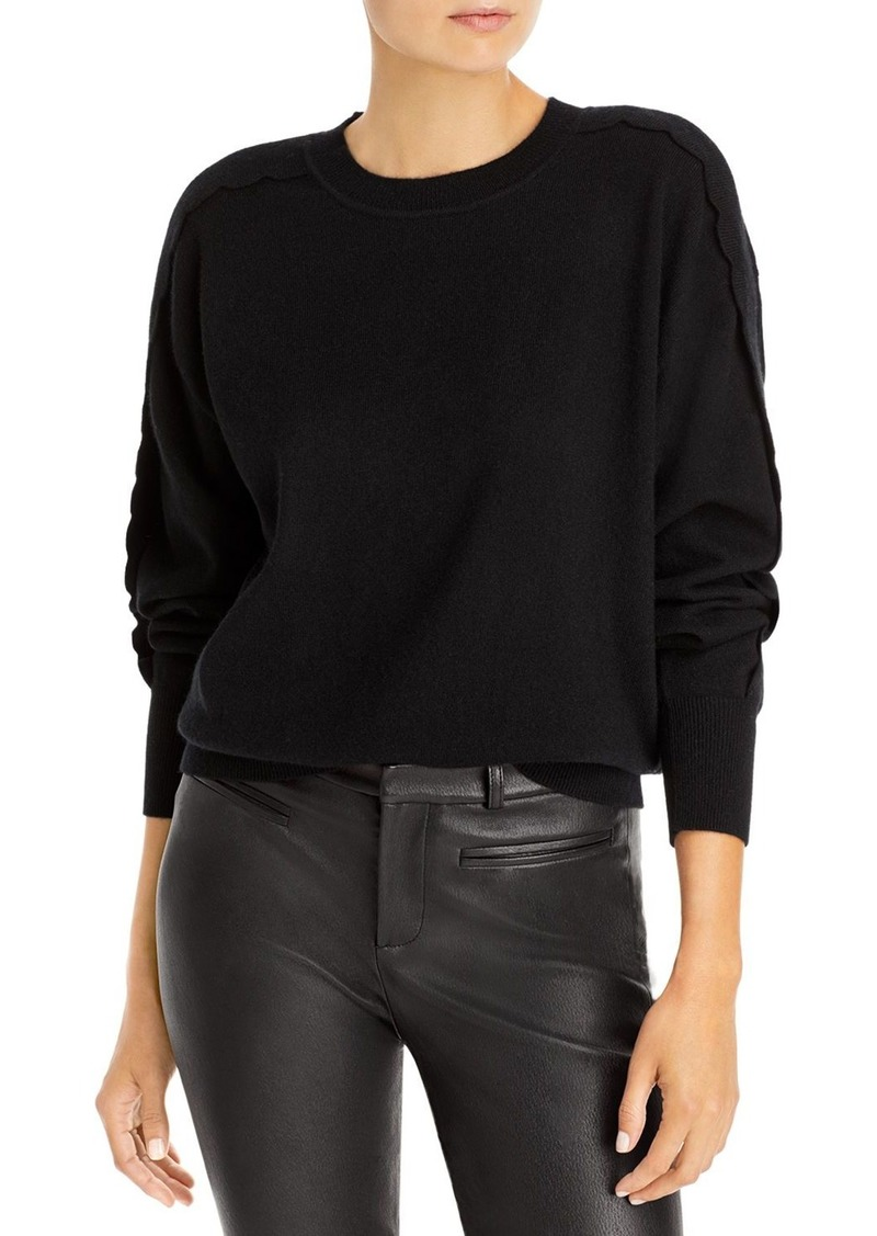 AQUA Scallop Sleeve Cashmere Sweater - 100% Exclusive