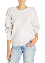 AQUA Scallop Sleeve Cashmere Sweater - 100% Exclusive