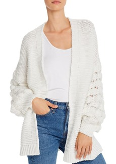 AQUA Oversized Balloon-Sleeve Cardigan - 100% Exclusive