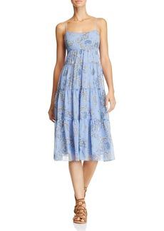 AQUA Paisley Tiered Midi Dress - 100% Exclusive