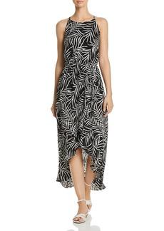 AQUA Palm Leaf High-Low Maxi Dress - 100% Exclusive