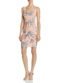 AQUA Palm Print Scalloped Body-Con Dress - 100% Exclusive